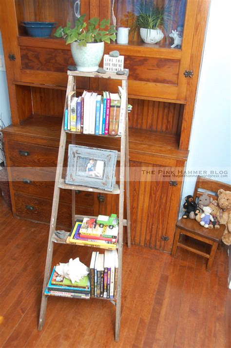 upcycle ladder into bookshelf diy upcycle endless