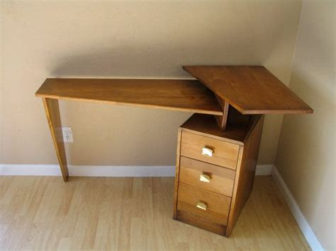 mid century corner desk danish modern mid century teak floating desk atomic studio
