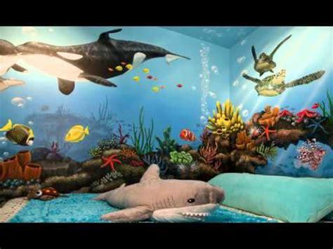 Glow In The Dark Mural Adam S Under The Sea Room Youtube