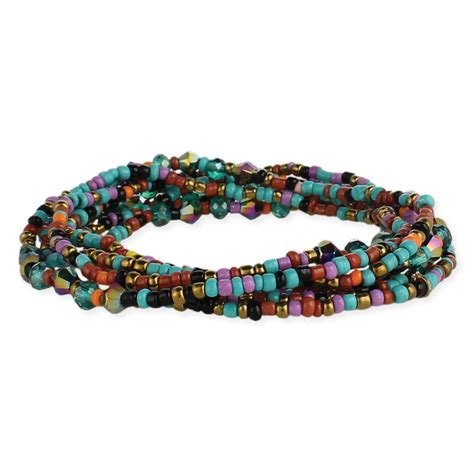 bead and stretch wholesale set of 7 multi bead stretch bracelets zad