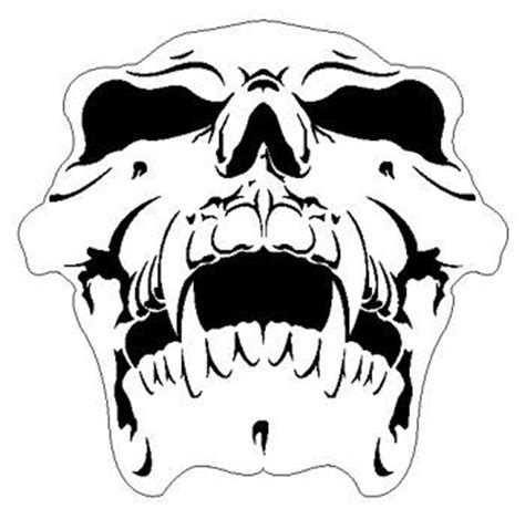 skull 9 human airbrush stencil air brush template
