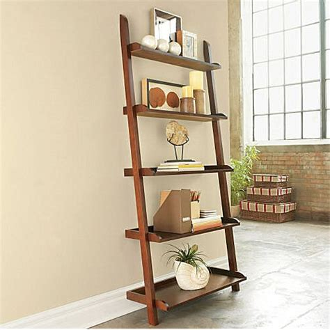 diy leaning ladder bookshelve homedesignpictures