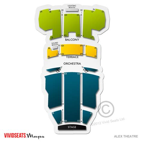 alex theatre seating chart seats