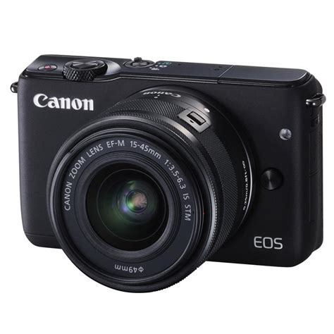 canon eos m10 compact system cameras ef m 15 45mm lens compact system