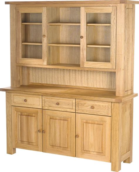 charltons bretagne solid oak 3 door dresser sideboard top