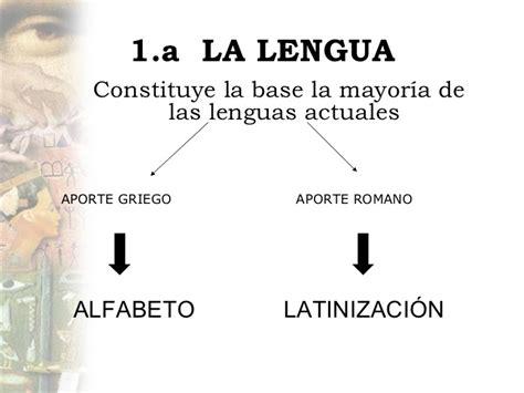 la lengua como base de la cultura monografias hu 5 legado cultural del mundo clasico