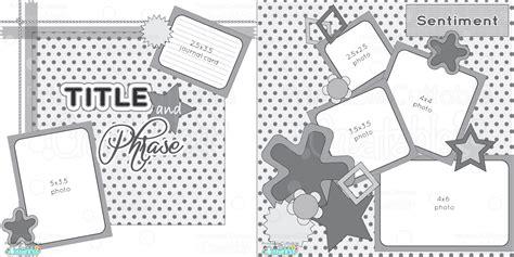 2 page 12x12 free printable scrapbook sketch printable