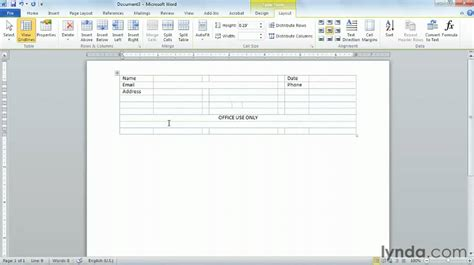 microsoft word creating professional looking forms