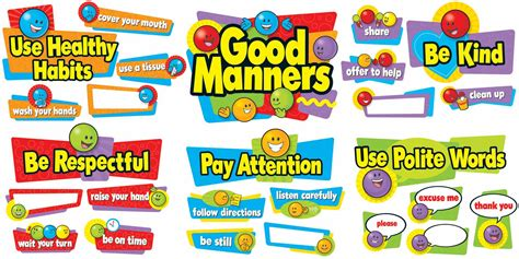 8 Places Need More Manners by Manners Bulletin Board Large Classroom Display Banner