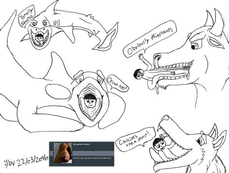 doodle question question doodle it is great to be eaten by by ilbv on