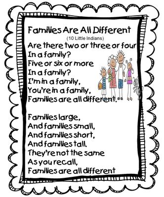 themes related to family families are all different song tune ten little indians