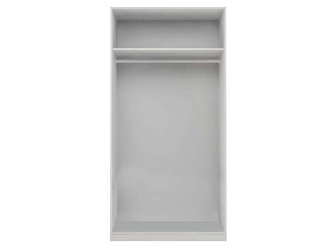 caisse d armoire 2 portes l 100 cm twist coloris blanc