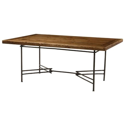 dining table dining table wood dining table wrought iron base
