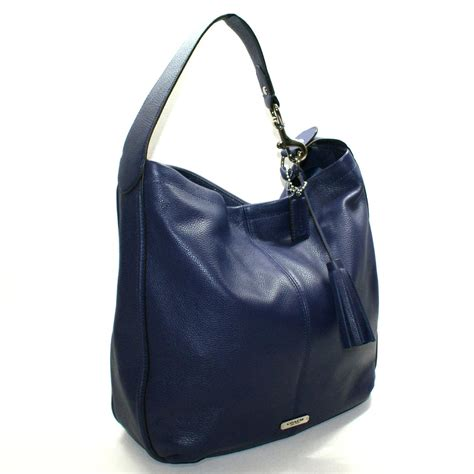 Coach Avery Leather Hobo Bag Indigo #23309   Coach 23309