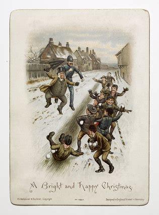 victorian christmas card    hildesheimer  company  museum  london