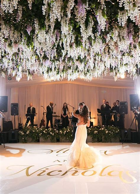 Wedding Flowers And Reception Ideas by Green And Floral Ballroom Wedding Reception Ballroom