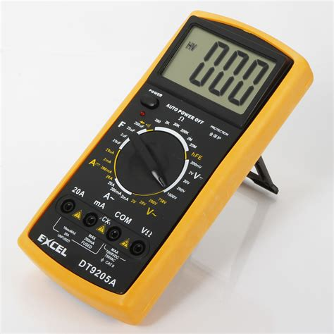 Multimeter Digital Dt9205a excel dt9205a lcd digital multimeter voltmeter resistance