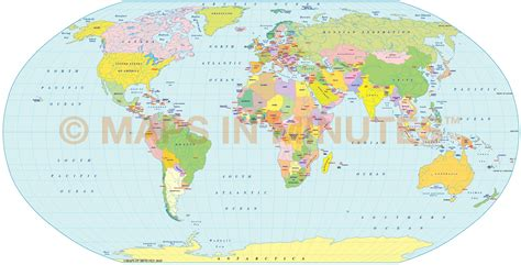 robinson map digital vector world political map in the robinson projection uk centric in illustrator and pdf