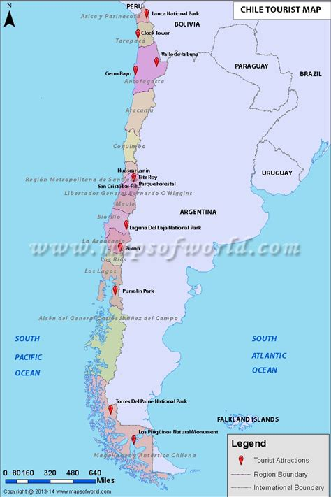 places to visit in map maps update 8001200 tourist attractions map in chile