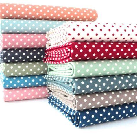 fabric crafts canvas 4mm vintage spots dots linen look fabric 100