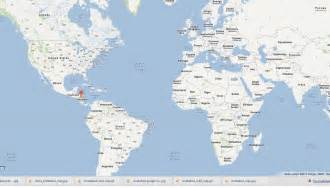 Nicaragua World Map by Nicaragua Map