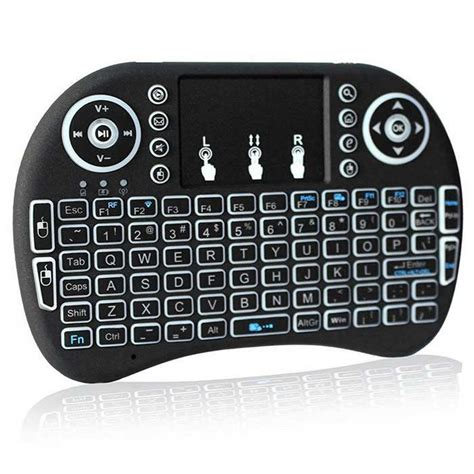 mini wireless i8 backlit mini wireless keyboard touchpad black free