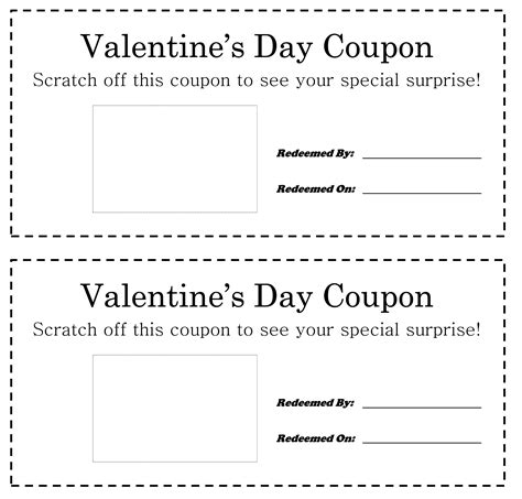 mystery valentine coupons scratch off craft metro parent