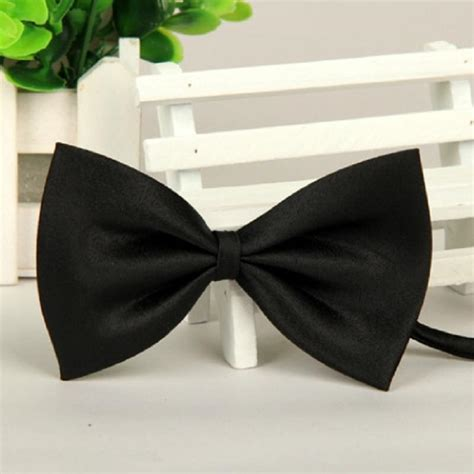 Bow Tie Black Polyester Inexpensive Bow Ties | black men polyester silk leisure jacquard cheap bow tie in