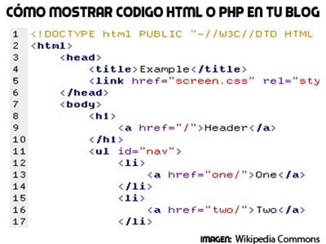 imagenes html codigo terminologias del internet