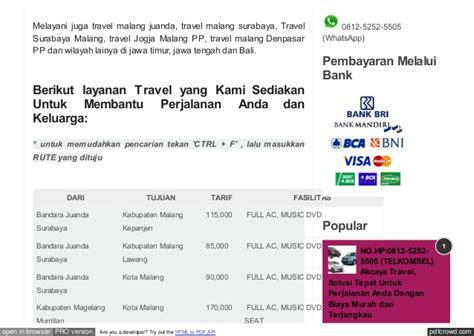 Hp Nokia Xl Di Malang no hp 0812 5252 5505 data travel di malang