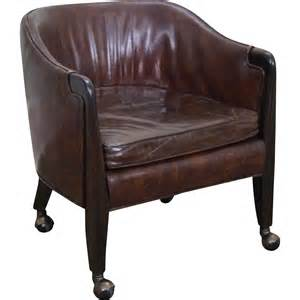 Small Chair Small Leather Club Chair On Wheels Decofurnish