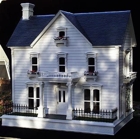 custom doll house custom white dollhouse by liz lebosse dollhouses pinterest