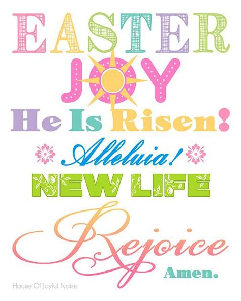 Free Printable Easter Quotes | a cheery colorful 8x10 easter printable for your home