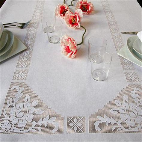 tovaglie da tavola ricamate a mano tovaglia rosalba ricami e pizzi