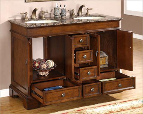 48 Bathroom Vanity With Granite Top by Silkroad 48 Quot Bathroom Vanity Brown Granite Top