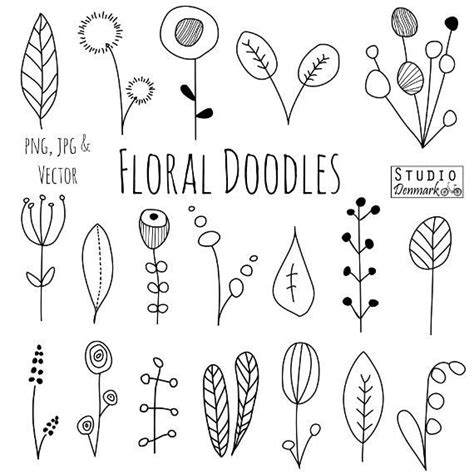flower pattern doodle doodle flowers clipart and vectors hand drawn flower and