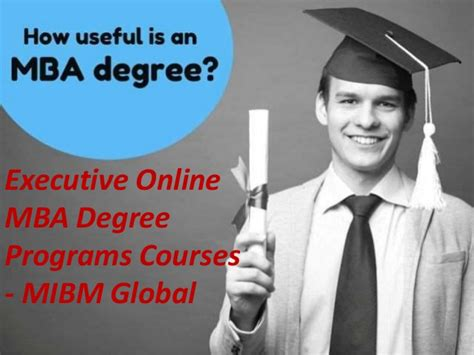 What Is An Executive Mba Degree by Executive Mba Certificate Degree Program Scope For