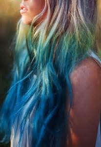 mermaid colored hair blue mermaid hair hair colors ideas