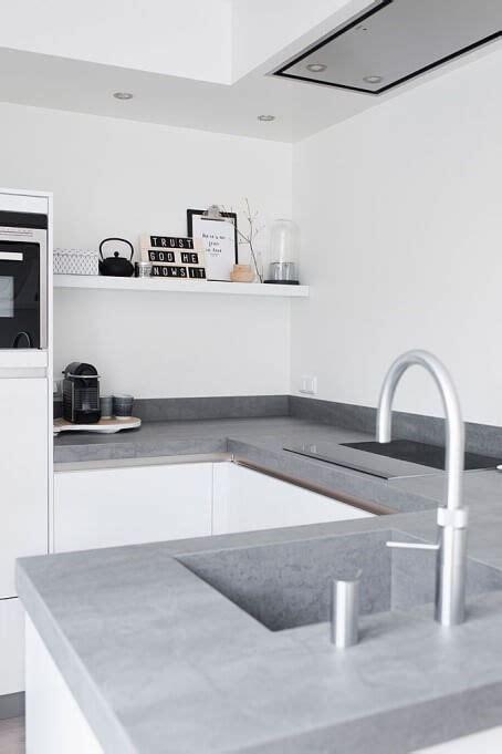 betonnen keukens beton in je keuken 20 prachtige voorbeelden ik woon fijn