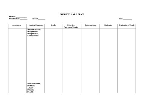 nursing care plan templates blank blank care plan sheets pictures to pin on pinsdaddy