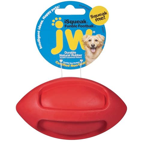 jw pet isqueak funble football dog toy small