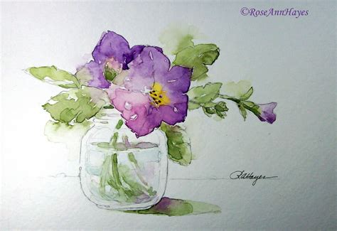 watercolor paintings by roseann november 2011
