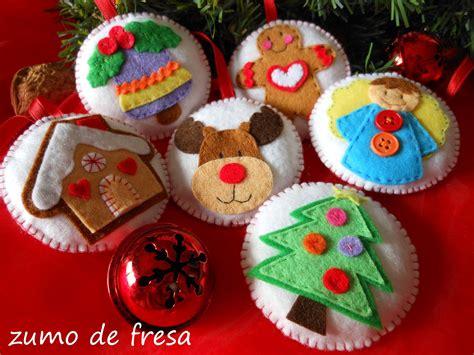 decorar bolas de navidad con fieltro zumo de fresa bolas de navidad