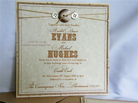 paperlicious oasis rustic wedding invitations