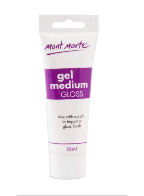 Acrylic Gel Medium mont marte gel medium gloss 75ml montmarte international