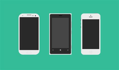 flat mobile flat mobile phones vector file 365psd