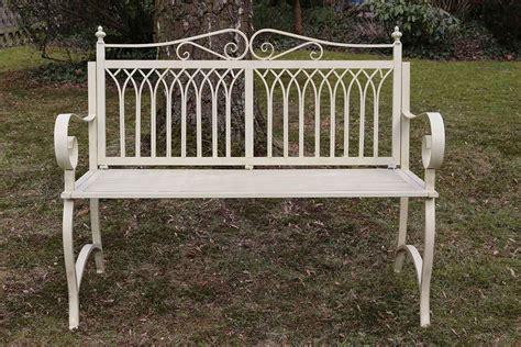 metal garden bench ebay antique style garden bench metal cream white furniture