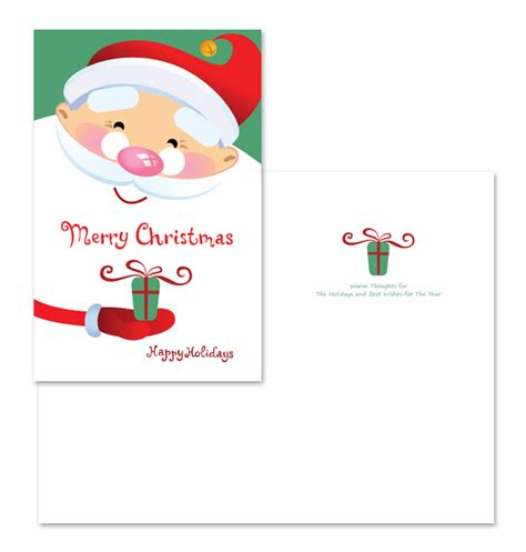 santa card template santa claus greeting card template