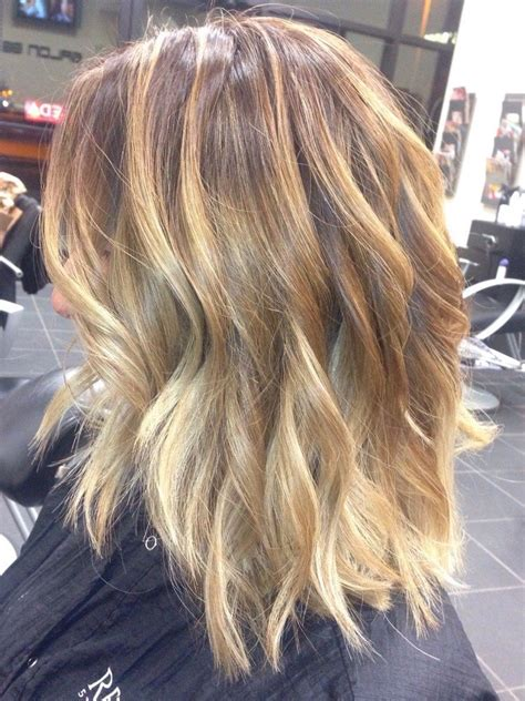 light blonde highlights on dark blonde hair balayage with light brown hair