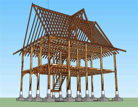 a frame building timber framing hybrid south asian timber frame house in